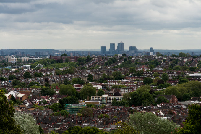 The view from Alexandra Palace