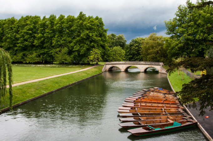 London? Cambridge! And punts for lovers and tourists.