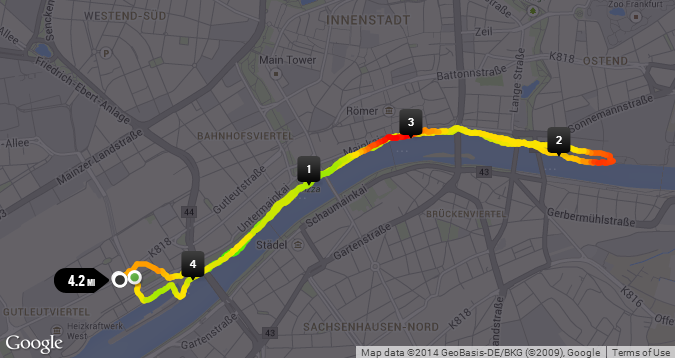 Running by the Main river