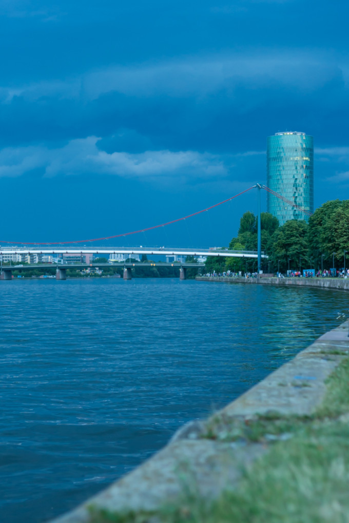 Main River before t-storm, Frankfurt, Germany