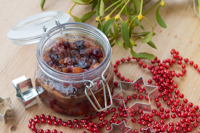 mincemeat butter grand marnier dried fruit apple orange zest prunes cranberries raisins cherries