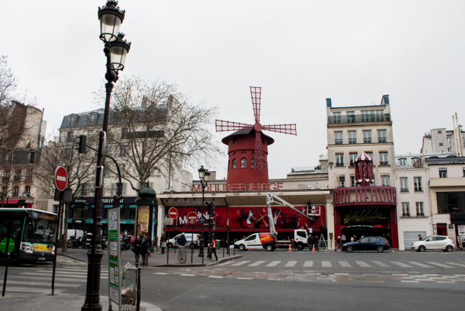 Moulin Rouge Red Mill Paris France red light district