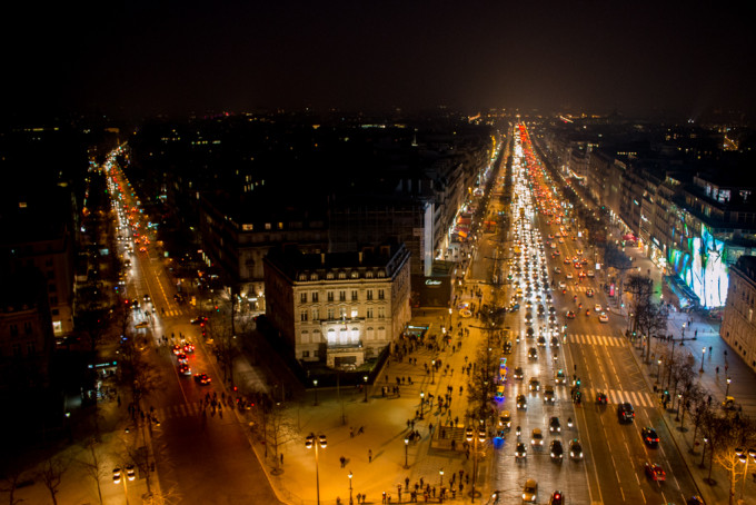 champs élysées elysees paris france arc de triomph