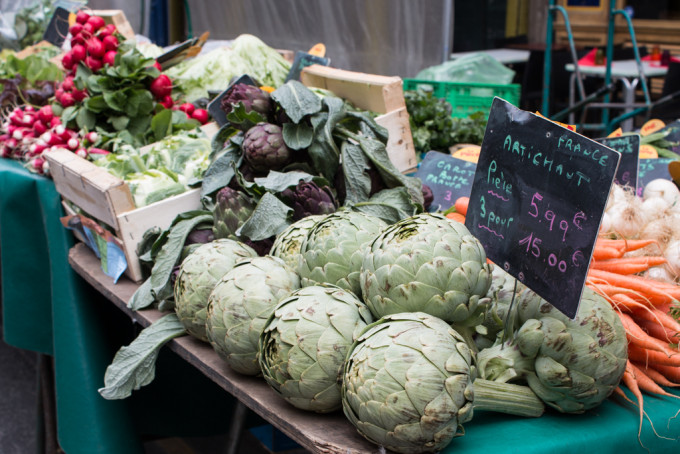 market rue montorgueil paris france vegetable veggies fresh