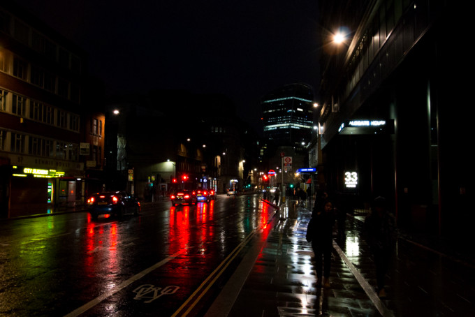 london in night street lights
