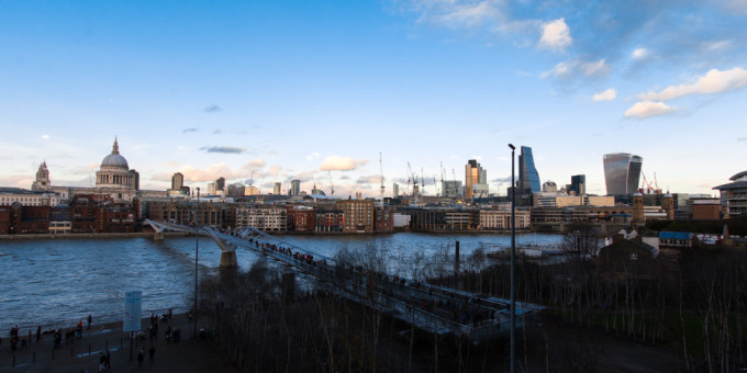 London St Paul view outlook Tate Modern Thames river
